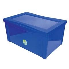 Caixa Organizadora em Polipropileno Radical Azul 65 Litros - Ordene