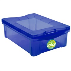 Caixa Organizadora em Polipropileno Radical Color Azul 13,5 Litros - Ordene