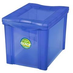 Caixa Organizadora em Polipropileno Radical Color Azul 30 Litros - Ordene