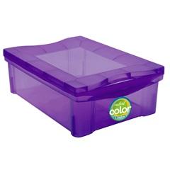 Caixa Organizadora em Polipropileno Radical Color Roxo 13,5 Litros - Ordene