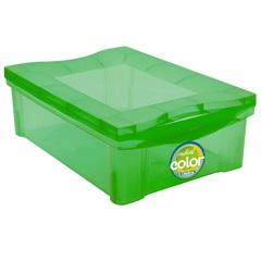 Caixa Organizadora em Polipropileno Radical Color Verde 13,5 Litros - Ordene