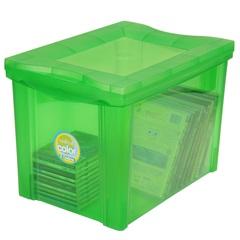 Caixa Organizadora em Polipropileno Radical Color Verde 30 Litros - Ordene
