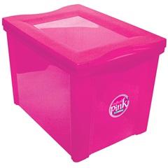 Caixa Organizadora em Polipropileno Radical Pink 30 Litros - Ordene