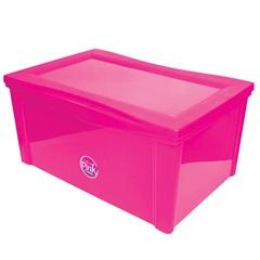 Caixa Organizadora em Polipropileno Radical Pink 65 Litros - Ordene