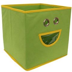 Caixa Organizadora em Tnt Smile 28x28cm Verde - Casanova