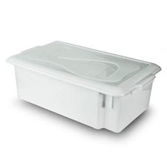 Caixa Organizadora Gourmet com Tampa 17 Litros Branca - Plásticos Santana