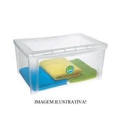 Caixa Organizadora Largo Alto Cristal 65 Litros - Ordene