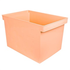 Caixa Organizadora Multiuso Larga 43,5x29cm Papaya - Dello