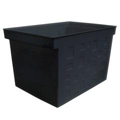 Caixa Organizadora Multiuso Larga 43,5x29cm Preta - Dello