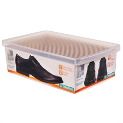 Caixa Organizadora para Sapato 35,5x23,5cm Transparente - Ordene
