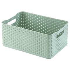 Caixa Organizadora Rattan 4,5 Litros Verde - Arthi