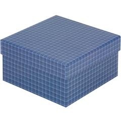 Caixa Organizadora Xadrez Azul 16x16x8,5cm - Paloni
