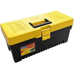 """Caixa para Ferramentas em Plástico 17"""" Preta E Amarela - Tramontina"""