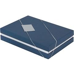 Caixa para Presente Azul E Prata 24,5x18,5x5cm - Paloni