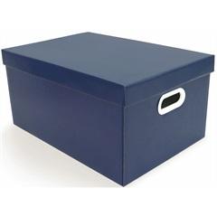 Caixa Pratika Azul 23x22cm   - Boxgraphia