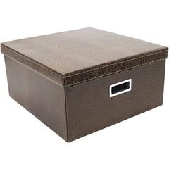 Caixa Quadrada Dandy Box Grande Marrom 20x40cm  - Boxgraphia
