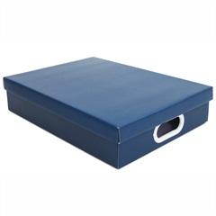 Caixa Retangular a4 Azul 7x25cm  - Boxgraphia