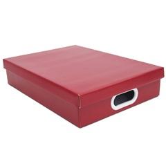 Caixa Retangular a4  Vermelha 7x25cm  - Boxgraphia