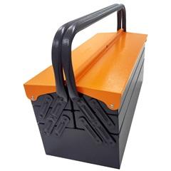 Caixa Sanfonada em Aço para Ferramentas com 5 Gavetas 32x20cm Cinza E Laranja - Presto