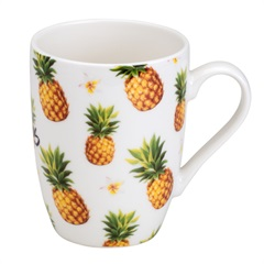 Caneca de Porcelana Be a Pineapple 330ml - Bon Gourmet