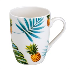 Caneca de Porcelana Leaves 330ml - Bon Gourmet