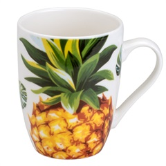 Caneca de Porcelana Pineapple 330ml - Bon Gourmet
