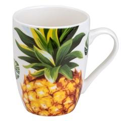 Caneca de Porcelana Pineapple 330ml - Bon Gourmet