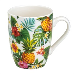 Caneca de Porcelana Pineapple Party 330ml - Bon Gourmet
