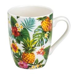 Caneca de Porcelana Pineapple Party 330ml - Bon Gourmet