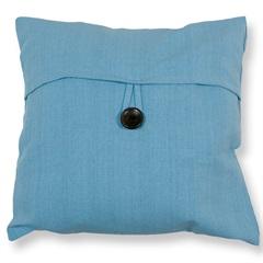 Capa para Almofada em Algodão Romantic 40x40cm Azul Claro - Casa Etna