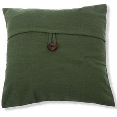 Capa para Almofada em Algodão Romantic 40x40cm Verde - Casa Etna