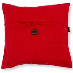 Capa para Almofada em Algodão Romantic 40x40cm Vermelha - Casa Etna
