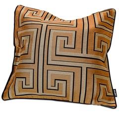 Capa para Almofada em Jacquard Mirage Geométrica 50x50cm Dourada - Casa Etna