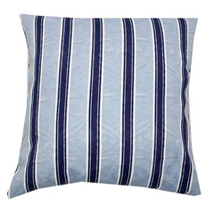 Capa para Almofada Listrada 43x43cm Azul - Próxima Têxtil