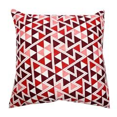 Capa para Almofada Triângulos 43x43cm Vermelha - Próxima Têxtil