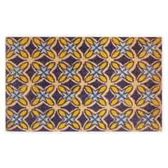 Capacho em Fibra de Coco 45x75cm Azul E Amarelo - Casanova