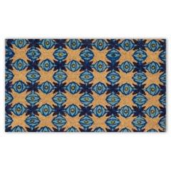 Capacho em Fibra de Coco Geométrico 45x75cm Azul - Casanova