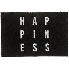 Capacho em Pvc Super Print Happiness 40x60cm Preto - Kapazi