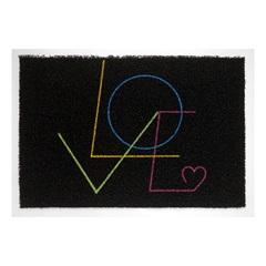 Capacho em Pvc Super Print Love 40x60cm Preto - Kapazi