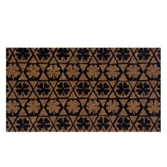 Capacho Fibra de Coco Retangular 60x33cm Trevo Preto - Uzoo