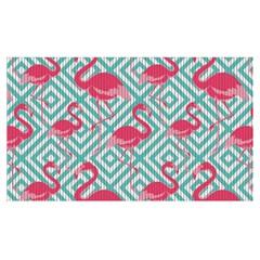 Capacho para Cozinha Tropical Flamingo Azul 43x130cm - Kapazi