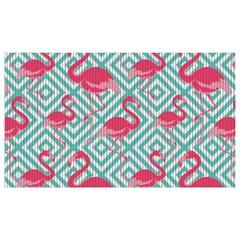 Capacho para Cozinha Tropical Flamingo Azul 43x65cm - Kapazi