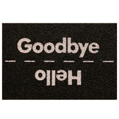 Capacho Super Print Hello Goodbye 40x60cm