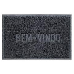 Capacho Vinílico Color Block 60x40cm Cinza Dark Gray - Uzoo