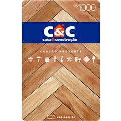 Cartão Presente R$ 1000 - C&C