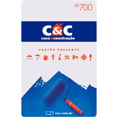 Cartão Presente R$ 700 - C&C