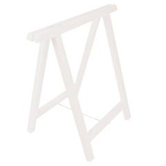 Cavalete em Madeira Reforçado 75x80cm Branco - Settis