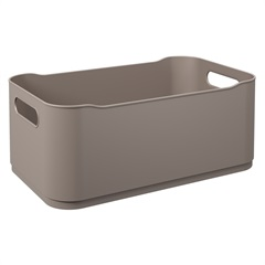 Cesta Organizadora Fit Grande 30,5x18,5cm Warm Gray - Coza