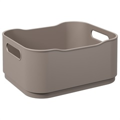 Cesta Organizadora Fit Pequena 18,5x15cm Warm Gray - Coza