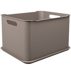 Cesta Organizadora Fit Ultra 38x32cm Warm Gray - Coza